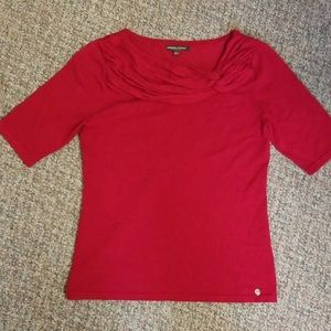 Adrienne Vittadini Red Sweater Size Med
